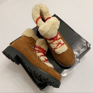 J Crew Nordic Winter Lace Up Boots 9 new in box